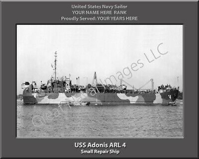 USS Sunbird ASR 15 Personalized Canvas Ship Photo Print Navy Veteran Gift