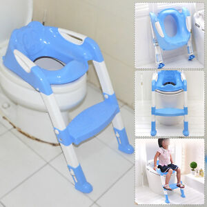 Blue Foldable Kid Children Babies Toddlers Toilet Potty