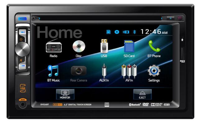 "Dual DV526BT Double Din 6.2"" USB DVD CD SD Player Bluetooth Car Audio Receiver"