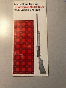 OWNER INSTRUCTIONS FOR WINCHESTER MODEL 1200 SLIDE ACTION SHOTGUN Around 1973