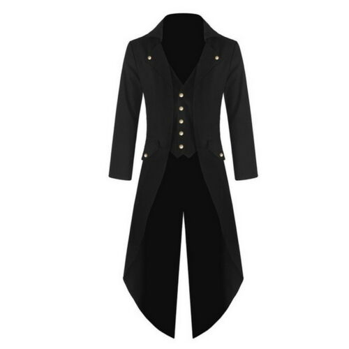 US Mens Swallow-tailed Crop Coat Tuxedo Party   Overcoat Tops