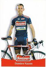 CYCLISME carte cycliste DAMIEN NAZON équipe BONJOUR .fr 2000