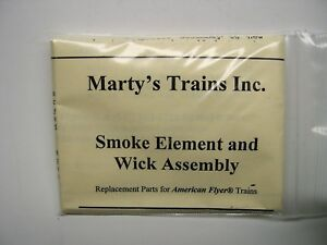 Repro-Smoke-Element-amp-Wick-for-American-Flyer-Steam-Locomotives