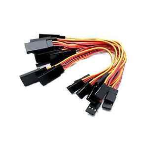 10x-trozo-servo-alargador-15cm-cable-prorroga-jr-Graupner-Futaba-RC