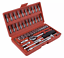 "thumbnail 2 - 46PCS Socket Ratchet Wrench Set Metric Sae Spanner Car Repair Tool Kit 1/4""Drive"