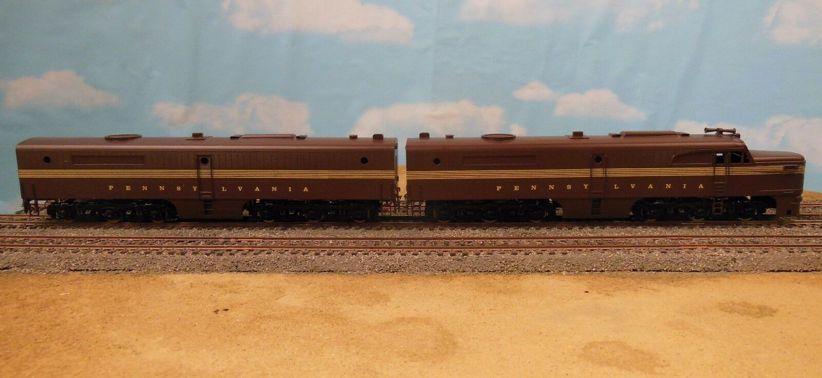 HO SCALE BRASS WESTSIDE MODEL CO ALCO  PENNSY  PA LOCOMOTIVE SET PAINTED