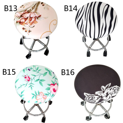 Round Chair Cover Bar Stool Cover Elastic Seat Cover Home Chair Slipcover New