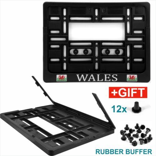 Square remorque number plate holder Surround 4x4 Van Caravane 11x8 Chrome Wales