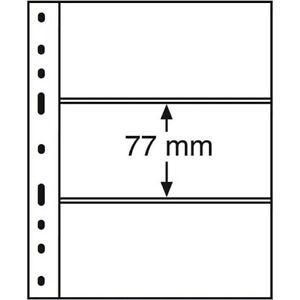 Fogli per Banconote a 3 Tasche Trasparente OPTIMA Confezione da 10 Pezzi