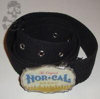 Nor Cal - Web Belt - Black / Nor Cal - Nhs Skateboard Dist' Co'