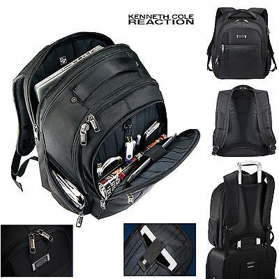"Kenneth Cole Tech Laptop Backpack 17"" Laptop / MacBook Pro Black  Backpack - New"