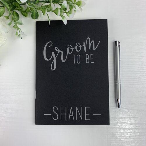 Groom Notebook And Pen Personalised