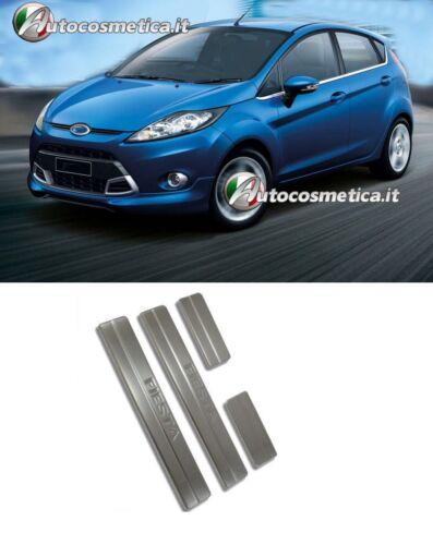 Battitacco Ford Fiesta 2008-2018 scritta Fiesta Acciaio Satinato Battitacchi