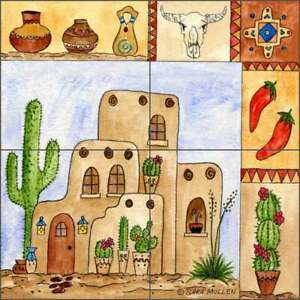 Southwest-Tile-Backsplash-Sara-Mullen-Art-Ceramic-Mural-SM097