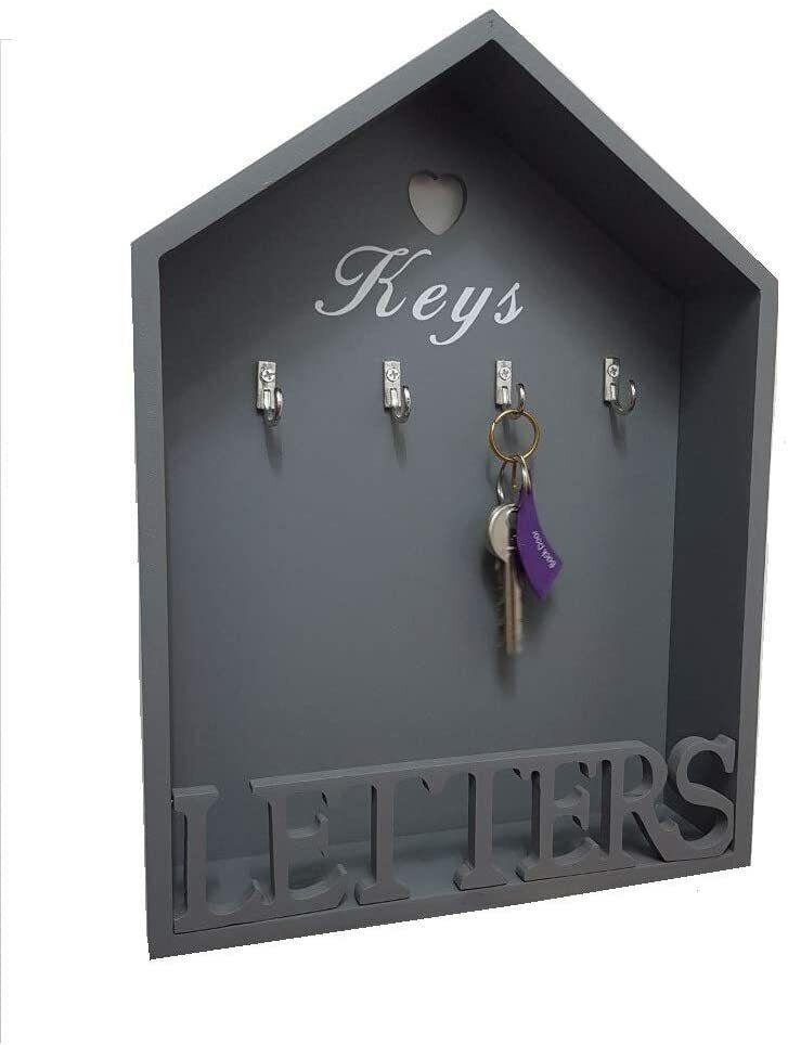 White wooden Purple Lavender Garden Letter Rack Shabby Chic