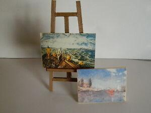 (m4.22) échelle 1/12th Maison De Poupées En Bois Chevalet Et Deux Photos-afficher Le Titre D'origine