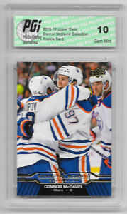 Connor McDavid 2015-16 Upper Deck Collection #CM-17 Rookie Card PGI 10 Oilers