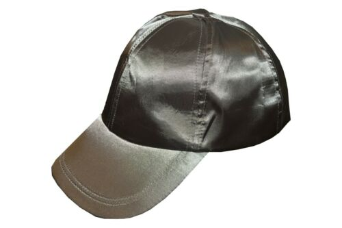 UNISEX FAUX SUEDE SATIN ADJUSTABLE BASEBALL CAP SNAP BACK HAT BLACK LABEL