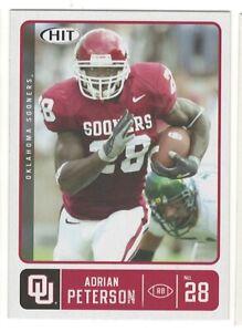 ADRIAN PETERSON RC 2007 SAGE HIT #28 Rookie Oklahoma Vikings