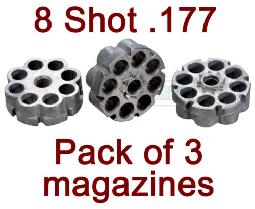 Umarex S/&W Smith Wesson M/&P45 MP45 Co2 Airgun Spare 8 Shot .177 Magazines 3 Pk