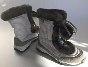 The-North-Face-Girls-Youth-Goose-Down-Winter-Snow-Boots-6-Lt-Gray-Excellent