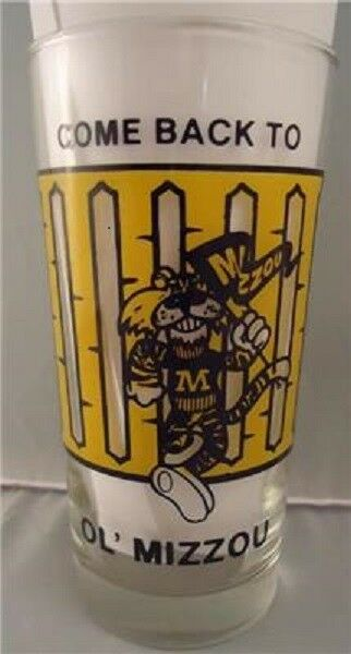 Vtg Tumbler Rare University Of Missouri Football Verre Tumbler Vtg 1986 Mizzou Tigers Exclnt da7573