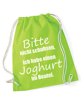 Hipster Beutel Tasche Jutebeutel Gymbag Turnbeutel - Bitte nicht schubsen