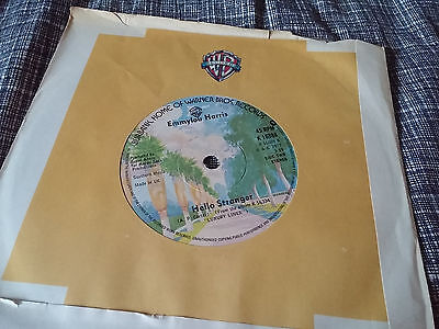 Fancy Colours Music Emmylou Harris 45 Hello Stranger/c'est La Vie Wb 16888 Uk Company Sleeve Nm