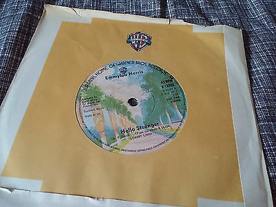 Emmylou Harris 45 Hello Stranger/c'est La Vie Wb 16888 Uk Company Sleeve Nm Music Fancy Colours