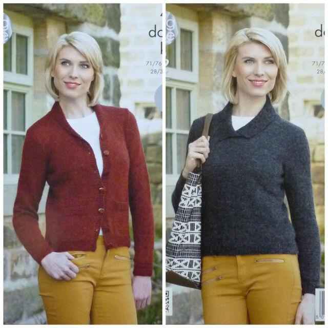 882686ccbd550 KNITTING PATTERN Ladies Easy Knit Long Sleeve Cardigan   Jumper DK KingCole  4262