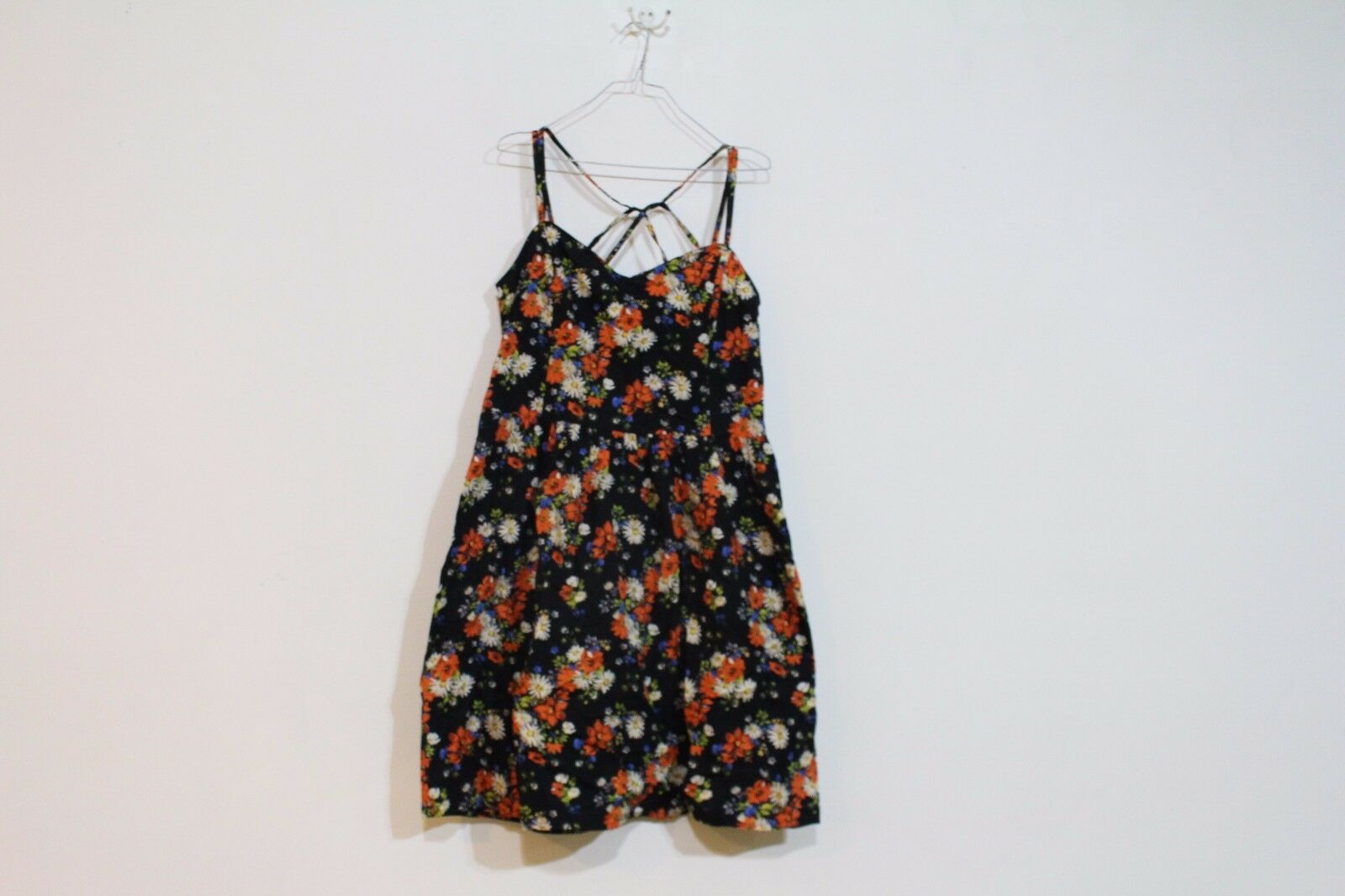 LONG TALL SALLY FLORAL COTTON SUN DRESS SIZE 14 US NEW