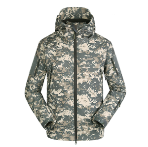 Men's Camo Jacket Outdoor Camouflage Waterproof Windbreaker