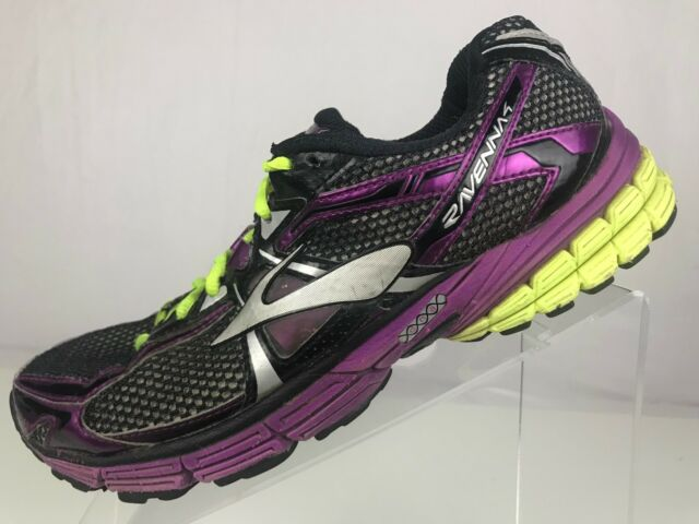 ebce3b52871 Brooks Ravenna 4 - Running Cross Training Athletic Shoes Black Purple Womens  9.5