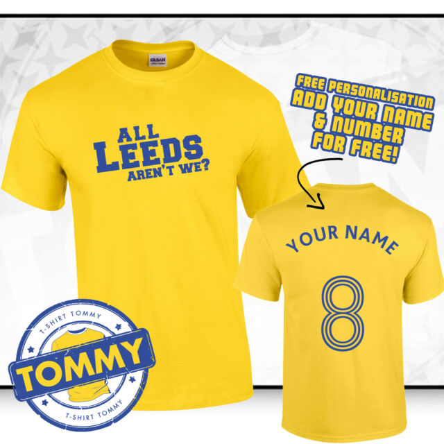 ALAW T-shirt All Leeds Are t We United UTD Yorkshire Rose Football Terraces