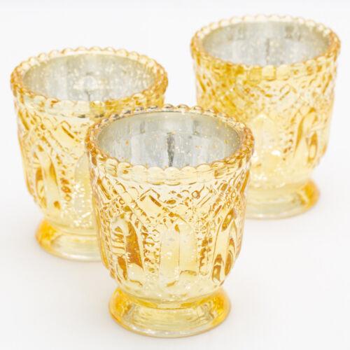 Richland Holder Royal Petite Mercury Set of 12 Wedding Votive Tealight Candles