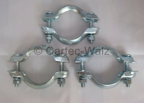 3 Piece Clamp Exhaust Clamp Pipe Coupling For Peugeot Ø 2 23//32in