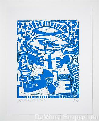 Mark T. Smith Angel Linocut Block Print Signed Numbered Limited Edition