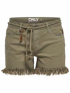 46-8-NEU-ONLY-Damen-Jeans-Hose-Bermuda-onlBREEZE-REG-RAW-EDGE-SHORTS-PNT-Gr-38