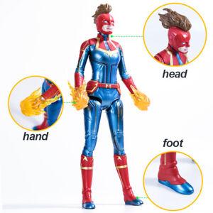 Captain-Marvel-Movie-Cosmic-Captain-Marvel-Super-Hero-Doll-Action-Figure-12-inch