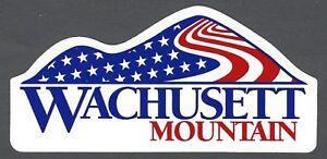 WACHUSETT MOUNTAIN MASSACHUSETTS SKI SNOWBOARD STICKER DECAL