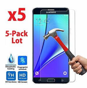 5x Wholesale Lot Tempered Glass Screen Protector for Samsung Galaxy Note 5