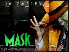THE MASK Affiche Cinéma GEANTE 4x3 WIDE Movie Poster JIM CARREY