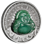 2019-Laughing-Buddha-1oz-Silver-Antiqued-Coin thumbnail 1