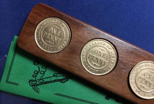 1935 Birthday Wedding Anniversary Gift Present Two-Up Game w// Australian pennies