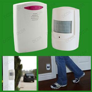 Wireless Driveway Alarm Alert System Security Garage Intruder PIR Motion