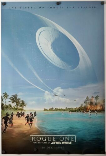 original DS movie poster D//S 27x40 FRENCH Adv Rogue One a Star Wars Story