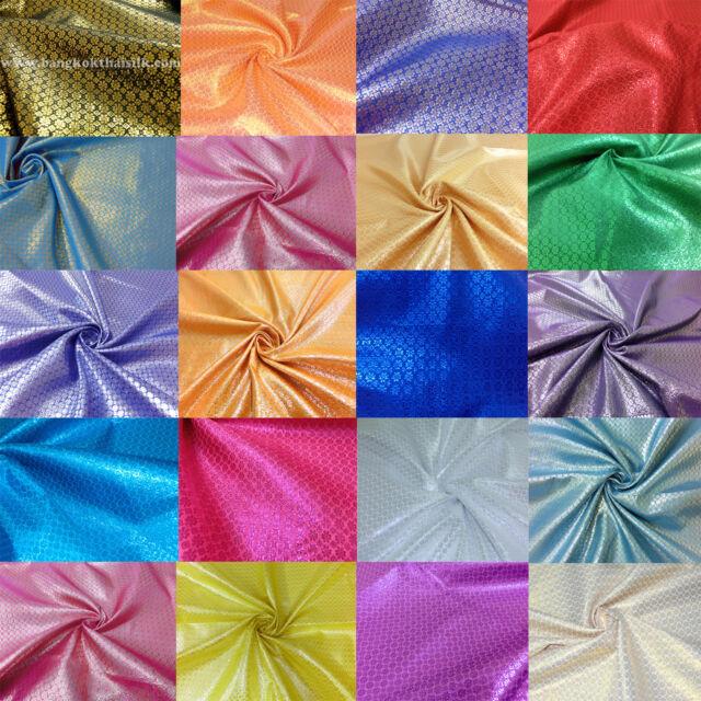 "Floral Metallic Brocade 2-Tones Fabric 44""W Jacket Skirt Wedding Drape Decor"