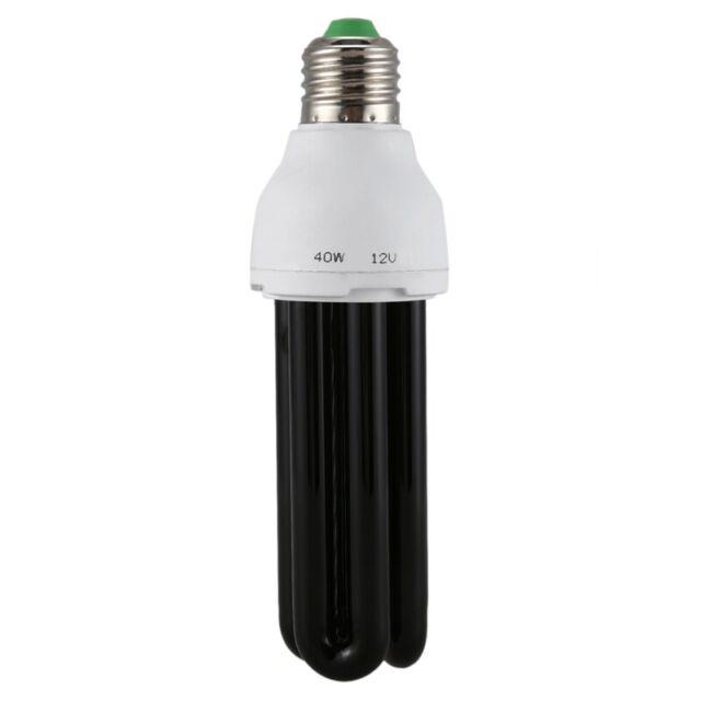 E27 40W UV Ultraviolet Fluorescent Blacklight CFL Light Bulb Lamp 220V Shape:Str
