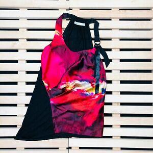 Womens-t-Shirt-without-sleeves-Karen-Millen-Size-8-Multicolor-Sleeveles-Silk