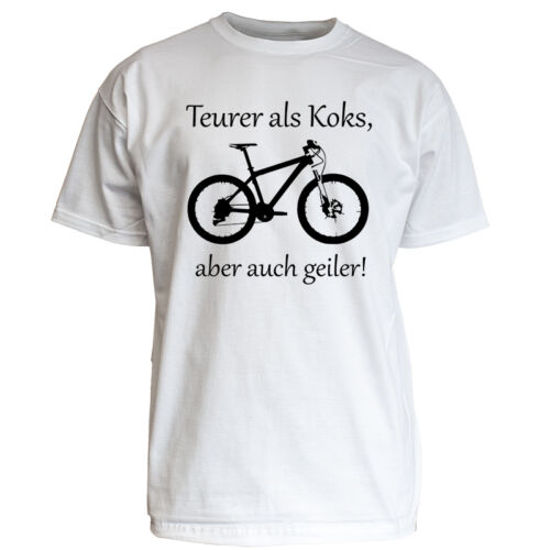 "Nukular T-Shirt Motiv /""Teurer als Koks/"" MTB Fun Trikot DH Enduro Radsport Love"